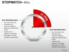 15 Min Stopwatch Misc PowerPoint Slides And Ppt Diagram Templates