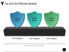 1St 2Nd 3Rd Winner Awards Ppt PowerPoint Presentation Ideas Vector