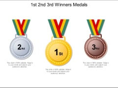 1St 2Nd 3Rd Winners Medals Ppt PowerPoint Presentation Ideas Themes