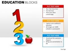 1 2 3 Education PowerPoint Clipart Graphics Slides
