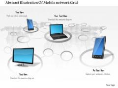1 Abstract Illustration Of Mobile Network Grid Ppt Slide