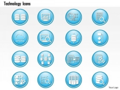 1 Big Data Technology Icons Analytics Storage Replication Dashboard Magnify Ppt Slide