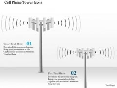 1 Cell Phone Tower Icons Cellular Mobile Ppt Slide