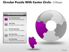 1 Circular Puzzle With Center Circle 5 Pieces PowerPoint Slides And Ppt Diagram Templates