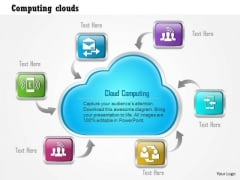 1 Cloud Computing Cloud With Mobile Devices Around It Showing Global Connectivity Ppt Slide