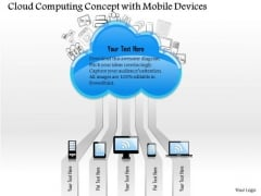1 Cloud Computing Concept With Mobile Devices Connected To Public Cloud Ppt Slides