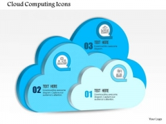 1 Cloud Computing Icons Within Each For Public Private Or Hybrid Computing Ppt Slides