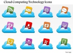 1 Cloud Computing Technology Icons Coming Out Of A Cloud Image Ppt Slides