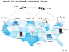 1 Complex Telecomm Network Communication Diagram Networking Wireless Mobile Ppt Slide