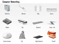 1 Computer Networking Raid Drive Ethernet Modem Keyboard Keyboard Firewall Ppt Slides