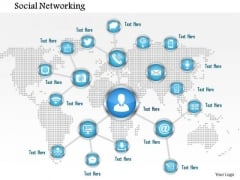 1 Concept Of Social Networking With Connections Over A World Map Ppt Slide