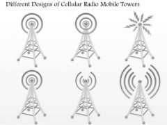 1 Different Designs Of Cellular Radio Mobile Towers For Wireless Communication Ppt Slide