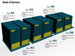 1 Editable Rack Of Servers In A Cluster For Data Warehousing In A Datacenter Ppt Slide
