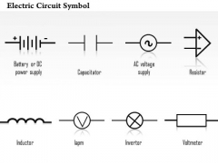 1 Electric Circuit Symbol Diagrams Capacitor Resistor Inductor Invertor Voltmeter Ppt Slides