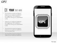 1 Graphic Processing Unit Gpu Icon In Mobile Phone Ppt Slides