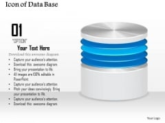1 Icon Of Database Or Disk Storage For A Network File System Or Storage Area Network Ppt Slides