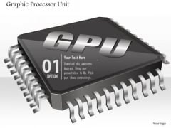 1 Icon Of Graphic Processor Unit Chip Microprocessor Cpu Motherboard With Sockets Ppt Slides