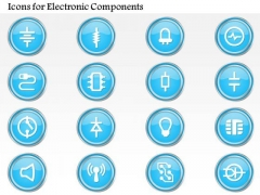 1 Icons For Electronic Components Resistor Capacitor Led Diode And Others Ppt Slide