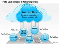 1 Public Cloud Connected To Networking Devices Showing Connectivity Ppt Slides