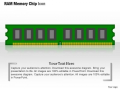 1 Ram Memory Chip Icon Flash Nand Pcie Device For Storage Ppt Slides