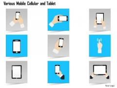 1 Various Mobile Cellular And Tablet Ipad Figure Gestures And Finger Motions Ppt Slide