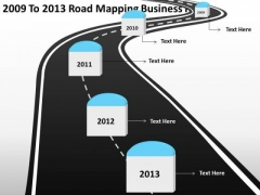 2009 To 2013 Road Mapping Business Plan PowerPoint Templates Ppt Slides Graphics