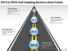 2013 To 2016 Road Mapping Business Plans Future PowerPoint Templates Ppt Slides Graphics