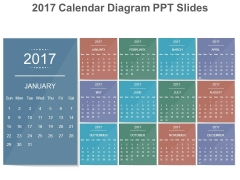 2017 Calendar Diagram Ppt Slides