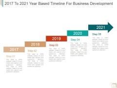 2017 To 2021 Year Based Timeline For Business Development Ppt PowerPoint Presentation Icon