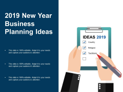 2019 New Year Business Planning Ideas Ppt PowerPoint Presentation Summary Ideas