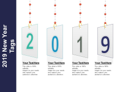 2019 New Year Tags Ppt PowerPoint Presentation Gallery Brochure