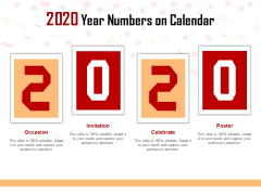 2020 Year Numbers On Calendar Ppt PowerPoint Presentation Icon Deck