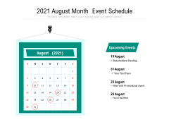 2021 August Month Event Schedule Ppt PowerPoint Presentation Professional Structure PDF