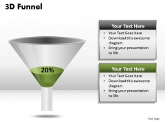 20 Percent Full PowerPoint Funnel Diagram Ppt Templates