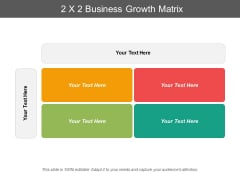 2X2 Business Growth Matrix Ppt PowerPoint Presentation Pictures Graphics Tutorials