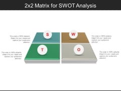 2X2 Matrix For Swot Analysis Ppt PowerPoint Presentation Infographics Background Designs