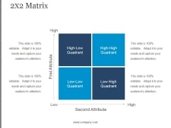 2X2 Matrix Ppt PowerPoint Presentation Professional
