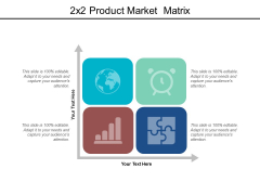 2X2 Product Market Matrix Ppt PowerPoint Presentation File Elements