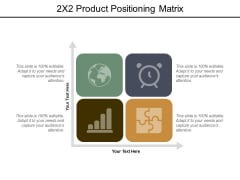 2X2 Product Positioning Matrix Ppt PowerPoint Presentation Outline Templates