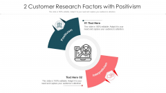 2 Customer Research Factors With Positivism Ppt PowerPoint Presentation File Microsoft PDF