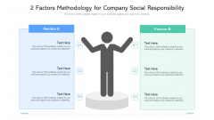 2 Factors Methodology For Company Social Responsibility Ppt PowerPoint Presentation File Example PDF