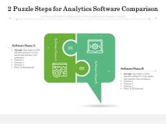 2 Puzzle Steps For Analytics Software Comparison Ppt PowerPoint Presentation Slides File Formats PDF