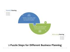 2 Puzzle Steps For Different Business Planning Ppt PowerPoint Presentation Professional Portfolio PDF