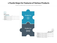 2 Puzzle Steps For Features Of Various Products Ppt PowerPoint Presentation Styles Graphic Images PDF
