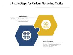 2 Puzzle Steps For Various Marketing Tactics Ppt PowerPoint Presentation Professional Slides PDF