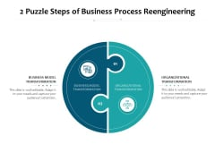 2 Puzzle Steps Of Business Process Reengineering Ppt PowerPoint Presentation Inspiration Summary PDF