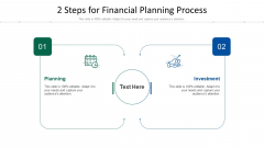 2 Steps For Financial Planning Process Ppt PowerPoint Presentation File Format Ideas PDF