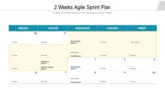 2 Weeks Agile Sprint Plan Ppt Inspiration Visual Aids PDF