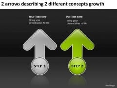 2 Arrows Describing Different Concepts Growth Ppt Business Planning Tools PowerPoint Templates