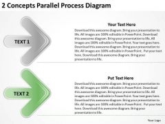 2 Concepts Parallel Process Diagram Score Business Plan PowerPoint Templates